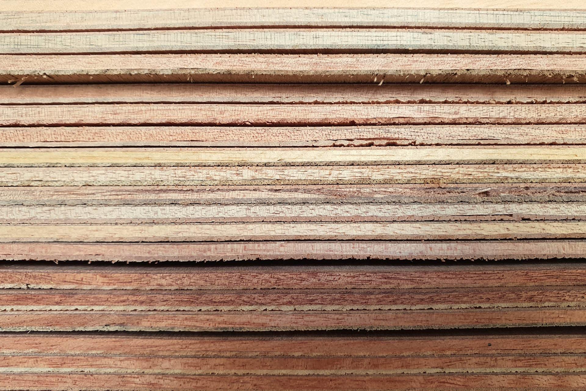 Hardboard sheets stacked sides - sheet materials