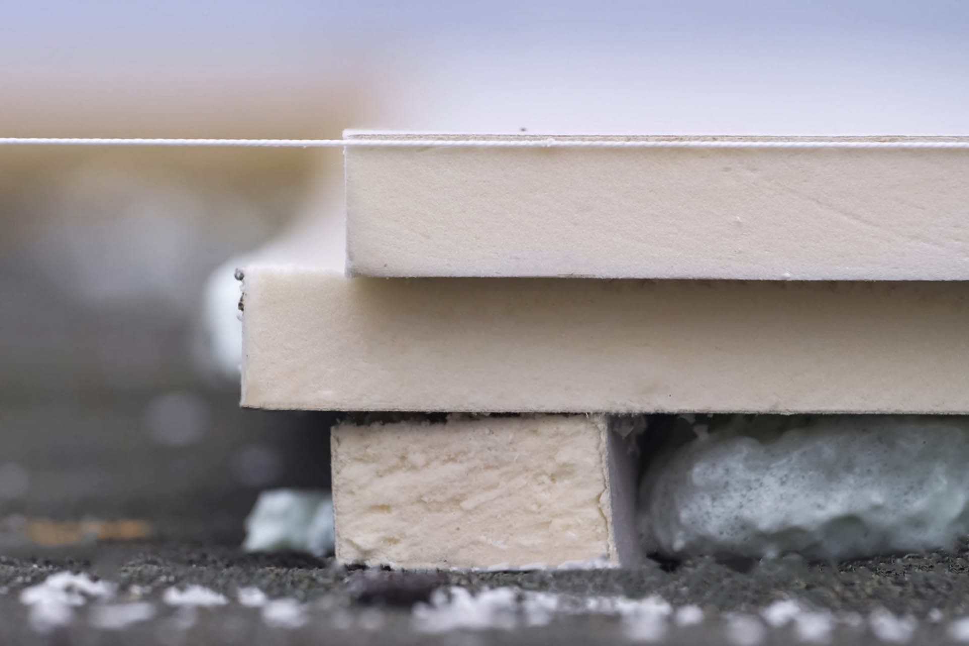 Roofing thermal insulation board, sheets of foam boards - building materials