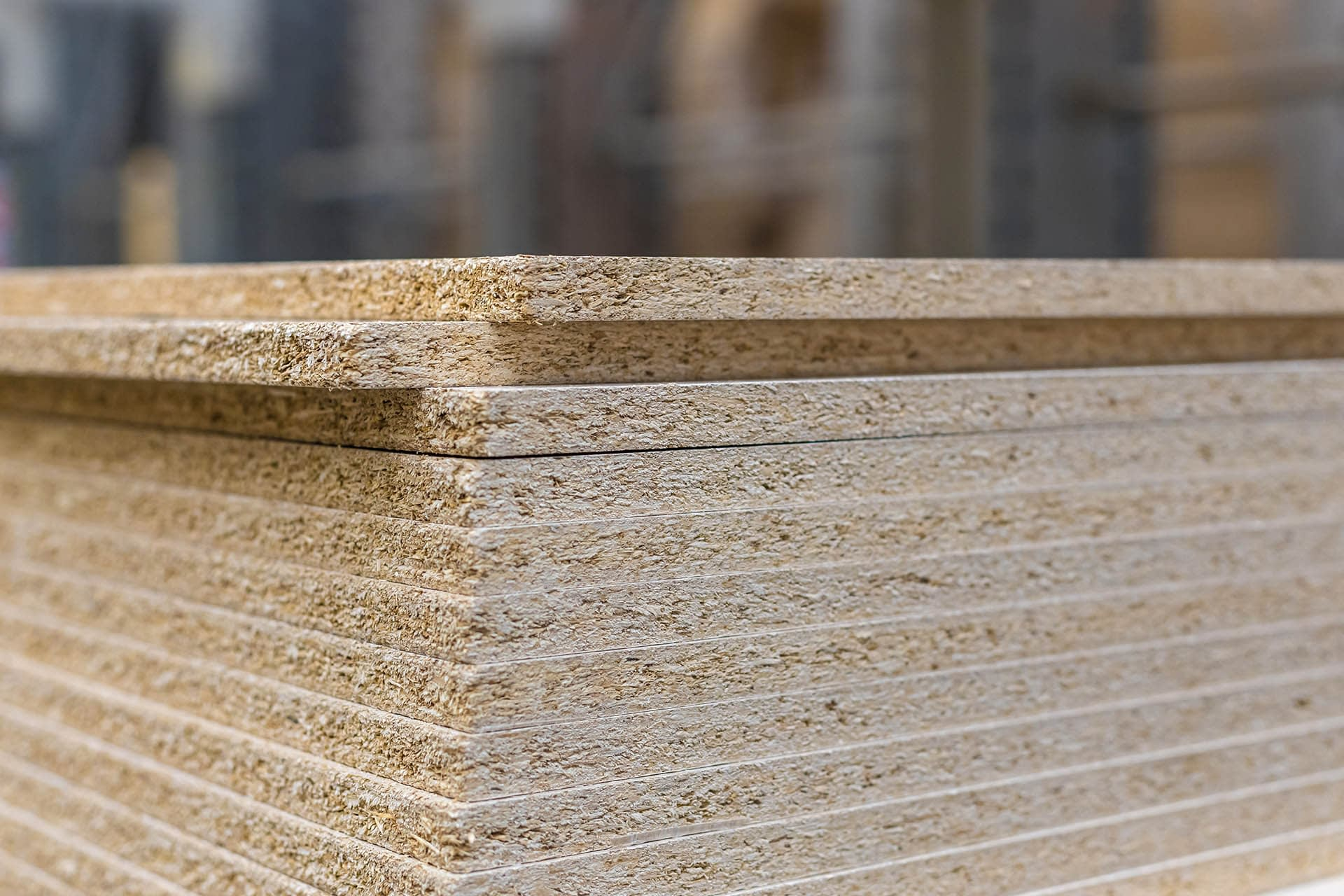 OSB (oriental strand board) closeup sheet materials