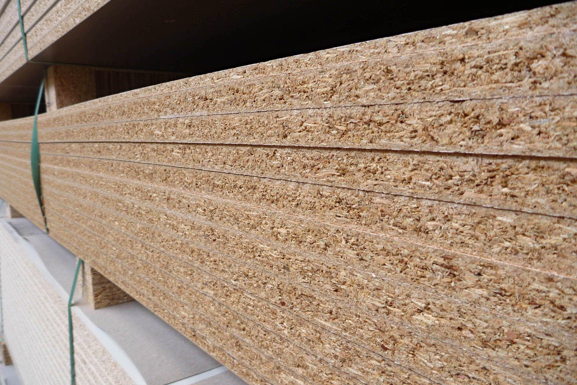 OSB (oriental strand board) stack sheet materials