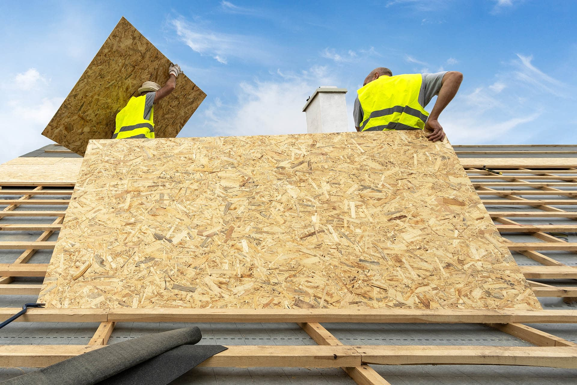 OSB (oriental strand board) building roofing sheet materials