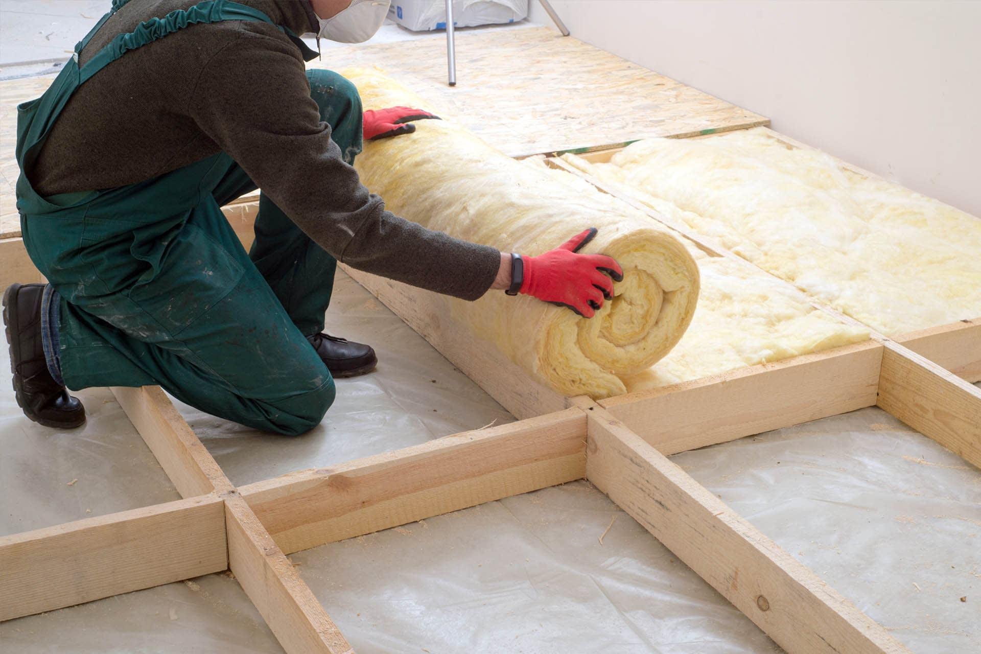 thermal-insulation-wool-rolls-on-floor-installation-building-materials